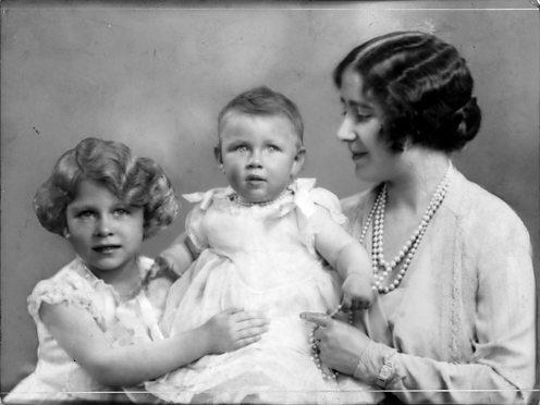 Queen Elizabeth with Princesses Elizabeth and Margaret