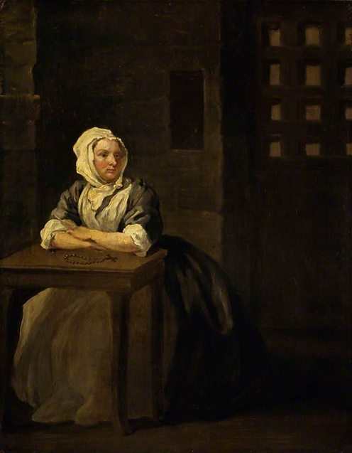 Sarah Malcolm (d.1733) by William Hogarth. (c) National Portrait Gallery