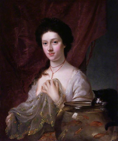 Kitty Fisher by Nathaniel Hone. (c) National Portrait Gallery