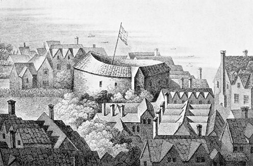 Depiction of the first Globe theatre