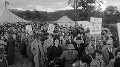 "The Plaid Cymru ""Keep Tryweryn"" Rally at Bala, October 4, 1956."
