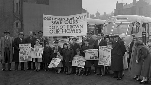 Protest in Liverpool, 21 November 1956. Charles, Geoff, 1909-2002 © LLGC/NLW