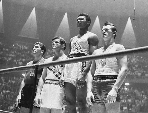 Muhammad Ali wins gold at the 1960 Olympics