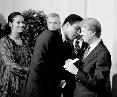 Muhammad Ali with President Jimmy Carter