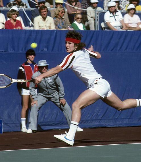 John McEnroe in the Davis Cup against GB 1978 final