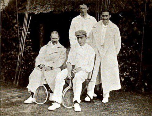 British and Belgium Davis Cup Teams 1904