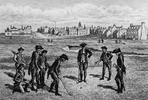 Eighteenth century golfers at St Andrews