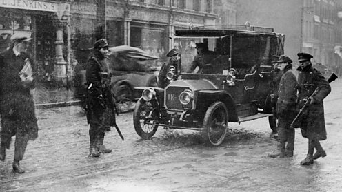 Easter Rising, rebel checkpoint
