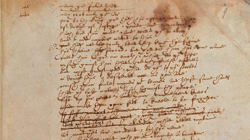 Shakespeare handwriting british library