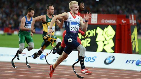Jonnie Peacock 100m 2012 London Paralympics