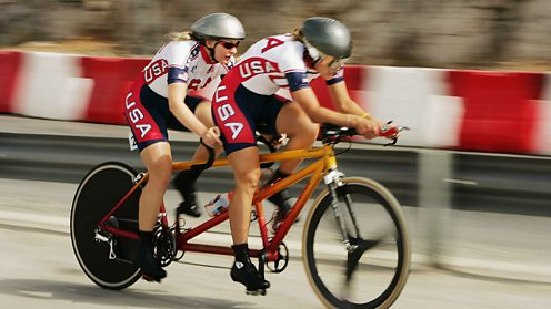 Women's Blind Cycling USA team 2004 Athens Paralympics