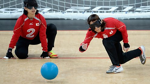 Paralympic goalball team from China