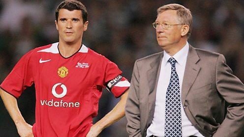 Roy Keane and Sir Alex Ferguson.
