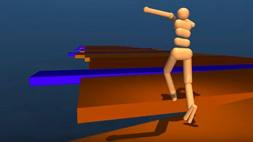 Google DeepMind artificial intelligence moving an animated figure