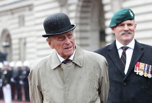 Prince Philip on his final solo public appearance, as Captain General, Royal Marines