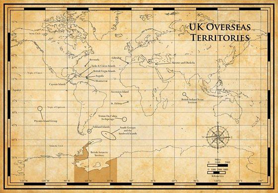 Map Of Uk Overseas Territories.Bbc Four Britain S Treasure Islands The Maps Uk Overseas