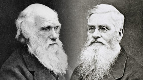 Left: Charles Darwin. Right: Alfred Russell Wallace.