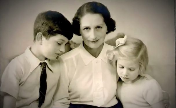 Vera Brittain with son and daughter