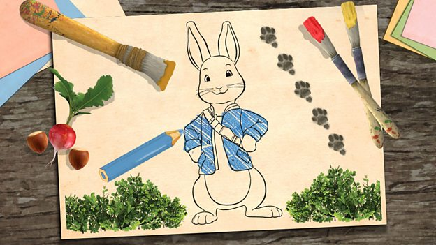 make a peter rabbit picture cbeebies bbc