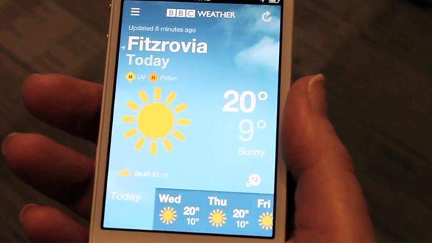 BBC - BBC Weather launches mobile app - Media Centre