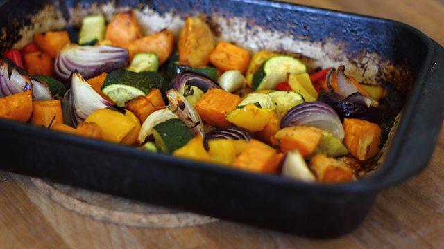 Salmon En Cro 251 Te With Pesto And Roasted Vegetables Recipe