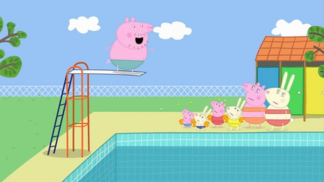 Bbc alba peppa series 2 a 39 sn mh swimming for Peppa pig swimming pool english full episode