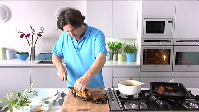 Roast pork with crackling recipe bbc food