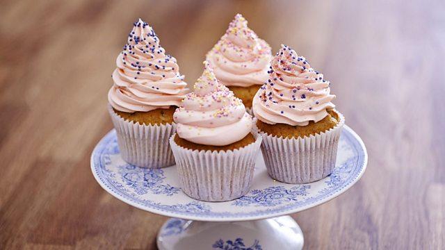 raspberry and cream cupcakes recipe bbc food