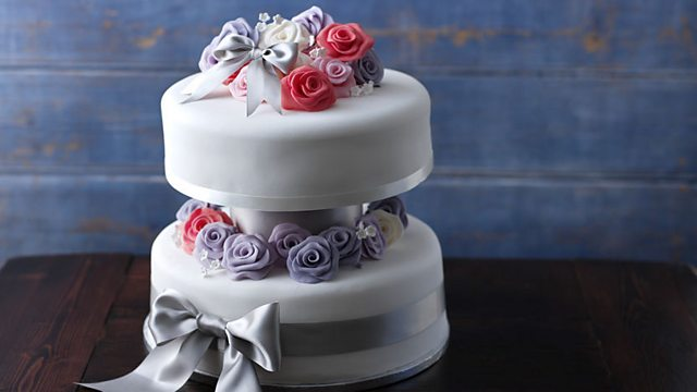 Simple two-tiered wedding cake recipe - BBC Food