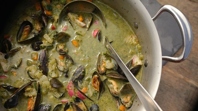 Summer vegetable soup with mussels recipe bbc food summer vegetable soup with mussels forumfinder Image collections
