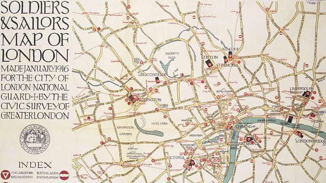 London Center Map.Bbc World War One At Home Central London Soldiers And Sailors