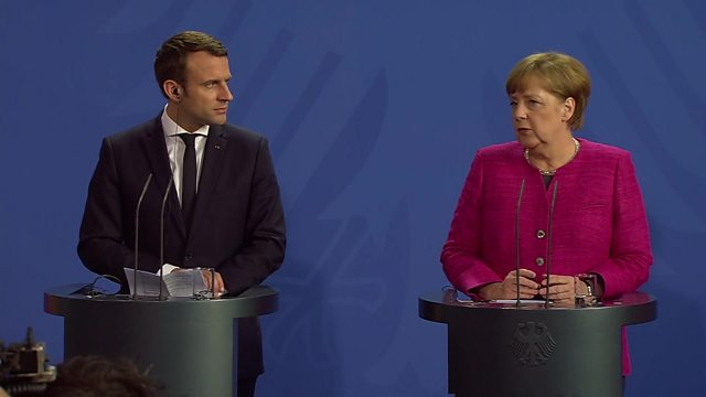 Macron and Merkel Press Conference