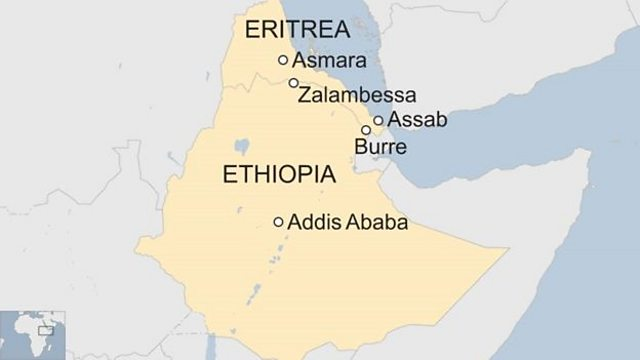 Map Of Africa Eritrea.Bbc World Service Focus On Africa Ethiopia Eritrea Border Is