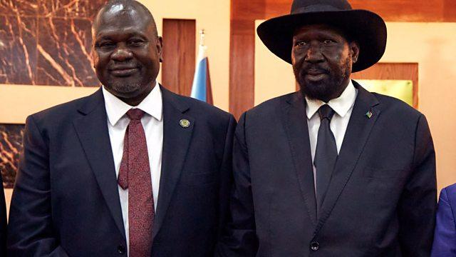 Bild: Kiir und Machar