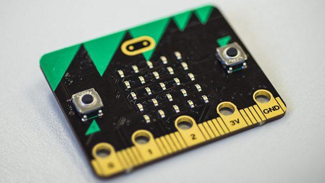 Forsiden af Micro:Bit'en