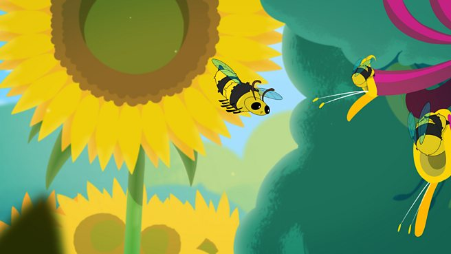 Why are bees attracted to flowers?