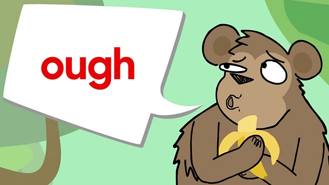 Which words use the OUGH sound?