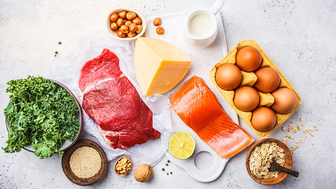 Red meat, poultry, fish and egg yolks contain haem iron, while sources of non-haem iron including kale and some nuts and seeds.
