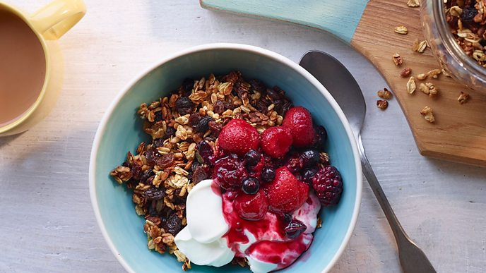 Rupy's healthy granola is equally good with breakfast or dessert