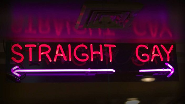 Image: straight and gay sign