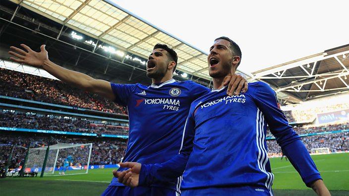 Diego Costa and Eden Hazard