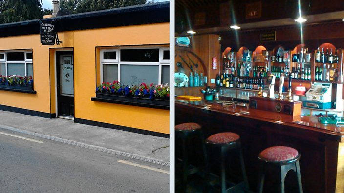 Interior and exterior of Conroy's Old Bar