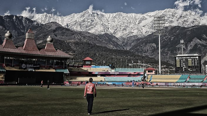 Dharamsala, India. Danielle Wyatt of England, Women's ICC World Twenty20 India 2016
