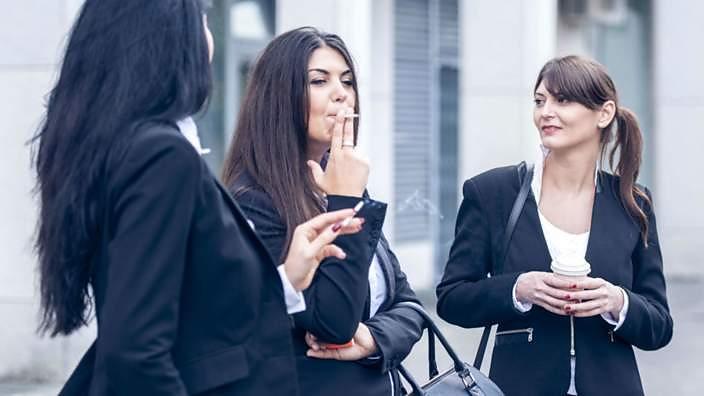 Women smoking