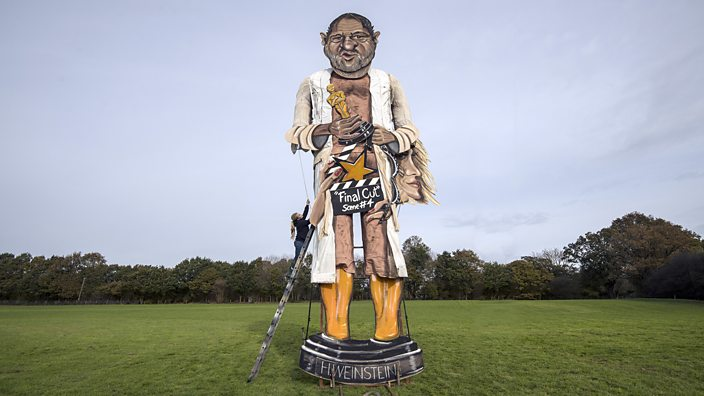A Harvey Weinstein effigy will be burnt in Edenbridge, Kent