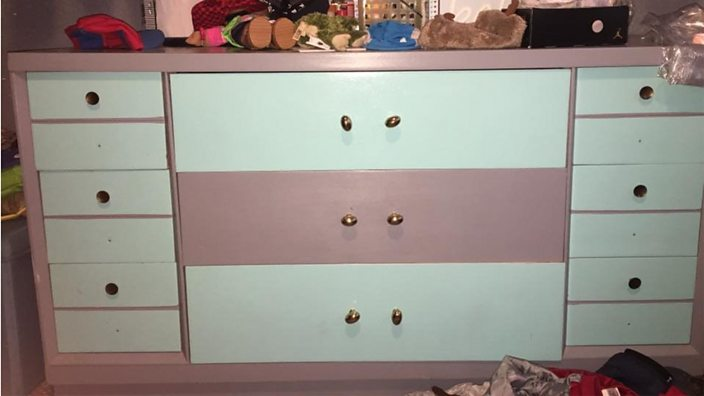 Is This Chest Of Drawers Pink And White Or Blue And Grey Bbc Three
