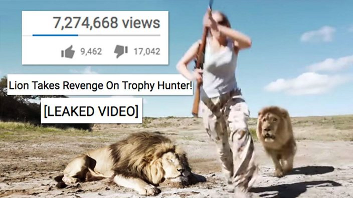 A lion takes revenge on trophy hunter - YouTube video