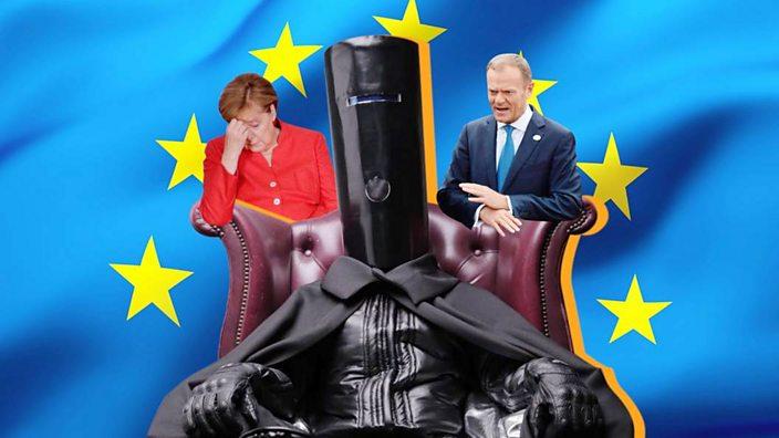 Lord Buckethead vs Angela Merkel and Donald Tusk