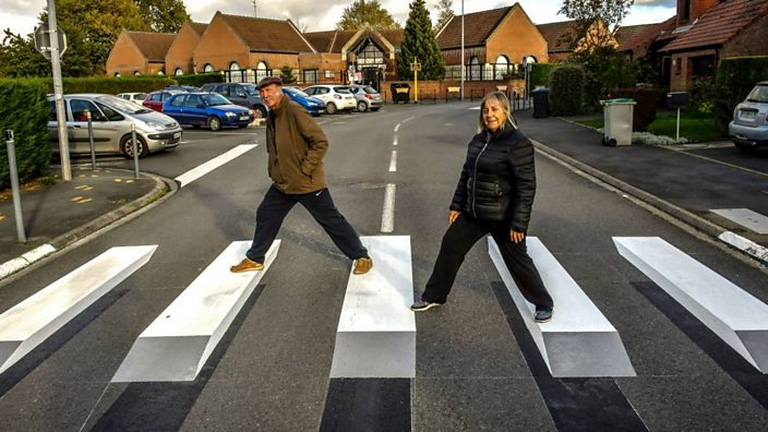 Would these floating 3D zebra crossings slow you down? - BBC Three