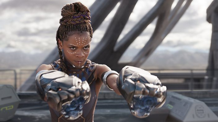 A still from the Black Panther film